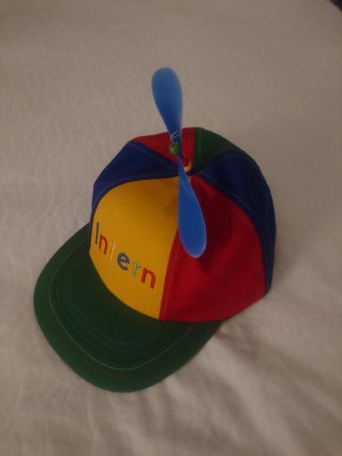 All interns get the Noogler hat ...