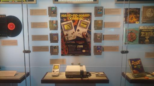 A display dedicated to the NES. The camera didn't pick it up well, but the Zelda cart is gold.